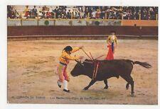 Corrida de Toros Las Banderillas Spain Vintage Postcard 461a