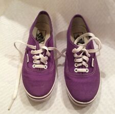 EUC  Vans-0ff The Wall Unisex Sneakers Skateboarding Shoes M4/W5.5 Color Purple