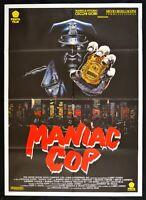 Werbeplakat Sadistische Polizist Maniac Cop 1992, William Lustig Robert Z'Dar