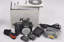 MINT- PENTAX K5 16.3MP BODY, BOXED, USA, 2BATTS, CABLES, MANUALS, ONLY 9654 ACTS