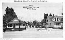 c1940s Kozy Kort Motel, Brush, Colorado Postcard