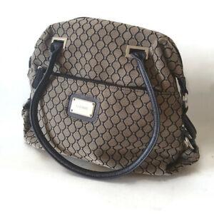 Nine West Women Handbag Shoulder Bag Zipper Black/Brown/Grey Double Handle