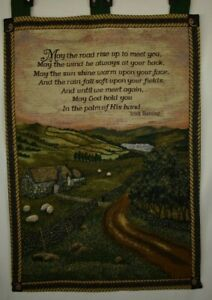 """Blessing of Ireland - Irish Blessing Tapestry Wall Hanging (26""""x36"""")"""