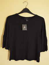 New! Atmosphere black ruffle sleeve t-shirt - UK 6 - flared top blouse boho