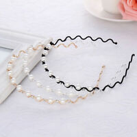 Pearl Rhinestone Crystal Hairbands Hair Hoop Headband for Women Hair Accessories