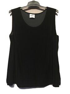 Women's Clothing, Top, Velvet Singlet, Eve-968, Black, Size 18, Was $56, Now $28