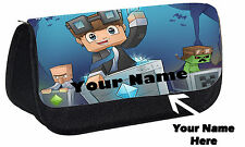 Personalised DAN TDM You Tuber Custom Pencil Case Make Up Bag Gift Idea