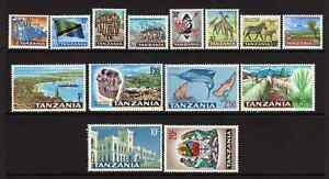 Tanzania 1965 QE2 Definitives SG 125/41 Cat £25 MNH
