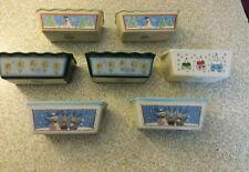 New listing Lot of 7 Nantucket Mini Loaf Bread Pan Baking Ceramic Stoneware