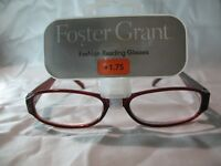 Foster Grant Womens Brown Fashion Reading Glasses +1.25 1.75 2.25 2.75