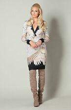 Hale Bob Floral Bodycon Dress | Long Sleeve Stretch Jacquard 00 NWT 5FCB6818