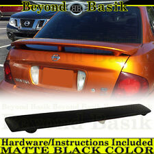 Fits 2000-2006 Nissan Sentra MATTE BLACK Factory Style Spoiler Rear Wing w/LED