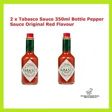 2 x Tabasco Sauce 350ml Bottle Pepper Sauce Original Red Flavour McIlhenny Co
