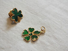 Beautiful Collectible St Patricks Pin and Brooch Set Both Signed Hallmark Philst