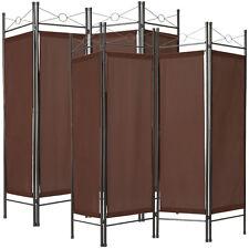 2x 4tlg Raumteiler Trennwand Paravent Umkleide Sichtschutz Spanische Wand Braun