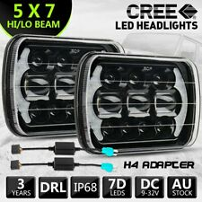 Pair 7X6 7X5inch LED Headlights DRL Hi/Lo Sealed Headlamp for Toyota Hilux 88-97