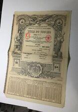 Dette Publique De La Roumanie 1913