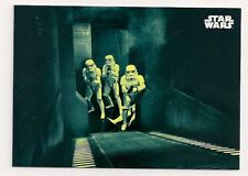2018 STAR WARS A NEW HOPE BLACK AND WHITE BLUE PARALLEL #100 IN HOT PURSUIT