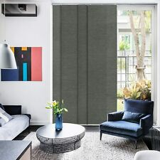 Obsidian Light Filtering Adjustable Sliding Window Panel Track with 23x86x96 in