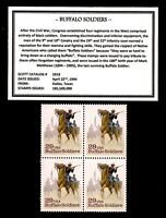 1994 - BUFFALO SOLDIERS -#2818 Mint -MNH- Block of Four U.S. Postage Stamps