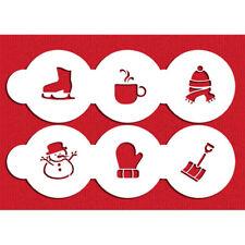 Designer Stencils C1033 Winter Cupcake/Cookie Tops Stencil Set