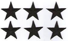 LOT 6 ECUSSON PATCH PATCHE THERMOCOLLANT ETOILE NOIRE BLACK STAR DIM 4,5 X 4,5CM