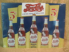 Pepsi Nickel Drink Tin Metal Sign Decor Pop Soda Cola