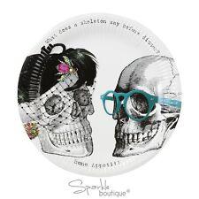 Placas de papel de cuello redondo Esqueleto-Spooky Halloween Fiesta Decoración-Gama Completa En Tienda