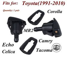 Window Windshield Washer Nozzle 2 PCS For Toyota Corolla MR2 Tacoma Celica Camry