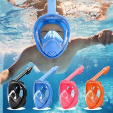 Anti-Fog Full Face Mask Swimming Breath Dry Diving Goggle Snorkel Scuba Glass