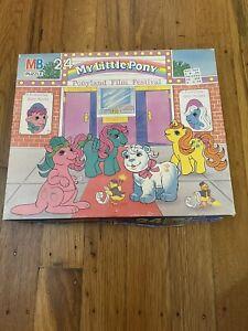 Vintage 1987 My Little Pony Ponyland Film Festival 24 Piece Jigsaw Puzzle 100%