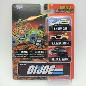 G.I. JOE Jada Nano Hollywood Rides DIE CAST SERIES FREE S&H! HISS SNOW CAT