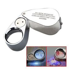 NEW 40X Metal Jeweller LED Microscope Magnifier Loupe UV