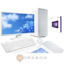 PC DESKTOP I3-7100 BIANCO WIND10 WIFI SSD 240GB 8GB MONITOR MOUSE TASTIERA CASSE