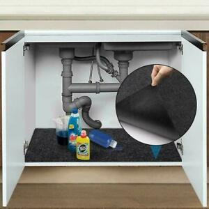 Under The Sink Mat Kitchen Shelf Tray Drip Organizer Protects Absorbent 30x36 in