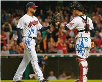 COREY KLUBER / YAN GOMES Autographed Signed 8x10 Photo ( Indians ) REPRINT
