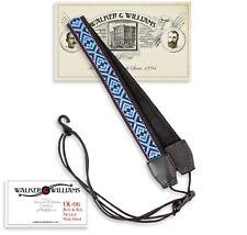 Walker & Williams UK-06 Blue, Black & Red Woven Adjustable Ukulele Strap