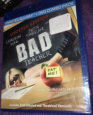 Bad Teacher (Blu-ray/DVD, 2011, 2-Disc, UNRATED) Cameron Diaz, Jason Segel New