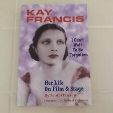 Kay Francis Bio Warner Bros 30s Movie Actress Affairs Broadway SC