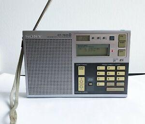 Sony ICF-7600D Weltempfänger Radio gut erhalten mit original Stofftasche
