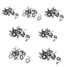 70Pcs Stainless Steel Fishing Rod Guide Rings Ceramic Eyes Kits Tackle Tool
