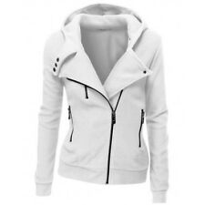 Womens Hooded Hoody Sweatshirt Zip Coat Jacket Jumper Tops Trecnch Coat Outwear