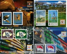 2015, World Stamp Exhibition (Series 1-4), Collector's sheet	Imperf 4 copies
