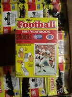 1987 Topps Football Stickers Box 100 Packs Factory Sealed