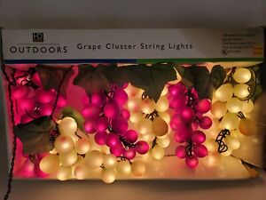 Grape Clusters String Lights 150 Lights HD Designs Outdoors 30.5' Red & Green