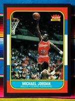 ✺Framed✺ MICHAEL JORDAN 1986-87 Fleer Rookie Card Poster 45 x 32 x 3cm NBA PSA