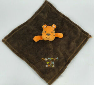 BABY GEAR Mommy's Wild Child TIGER Brown Fleece SECURITY BLANKET Plush LOVEY Toy