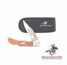 Winchester pocket Knife Lockback Hunter with sheath Free Shipping Usa