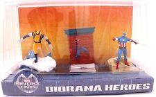Marvel Universe Live Diorama Heroes X-Men/Spider/Captain 3 Figures Statues Toys