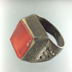 RARE Ancient Authenic ISLAMIC Ring Muslim Allah Persian Antique Handmade Amulet